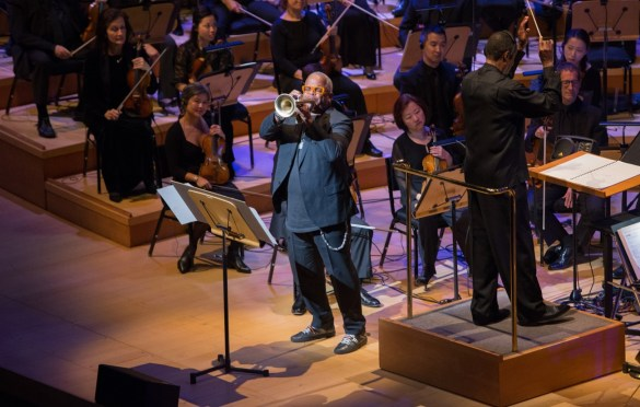 """Trumpeter Terence Blanchard during """"The Oscar Concert"""" presented by the Academy of Motion Picture Arts and Sciences on Thursday, February 28, at the Walt Disney Concert Hall in Los Angeles. The Oscars® will be presented on Sunday, March 4, 2018, at the Dolby Theatre® in Hollywood, CA and televised live by the ABC Television Network. Photo by Paul Hebert/ (C) A.M.P.A.S. Used with permission."""
