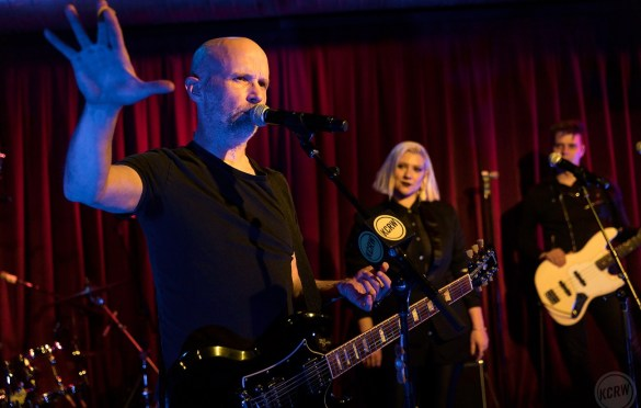 Moby @ KCRW'S Apogee Sessions 3/26/18. Photo by Brian Feinzimer. Courtesy of KCRW. Used with permission.