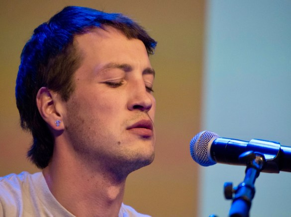 Marlon Williams @ Austin Convention Center during SXSW 3/14/18. Photo by Mike Golembo (@Instalembo) for www.BlurredCulture.com.