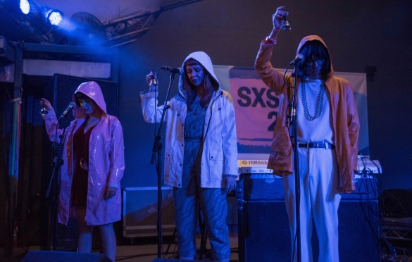 Superorganism @ Stubbs during SXSW 3/14/18. Photo by Mike Golembo (@Instalembo) for www.BlurredCulture.com.