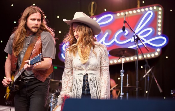 Margo Price with Lukas Nelson & Promise Of The Real at Luck Reunion 3/15/18. Photo by Derrick K. Lee, Esq. (@Methodman13) for www.BlurredCulture.com.