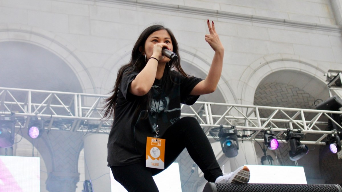 Ruby Ibarra at Identity L.A. 2018. Photo by Rachel An Cauilan (@Rachelcansea) for www.BlurredCulture.com.