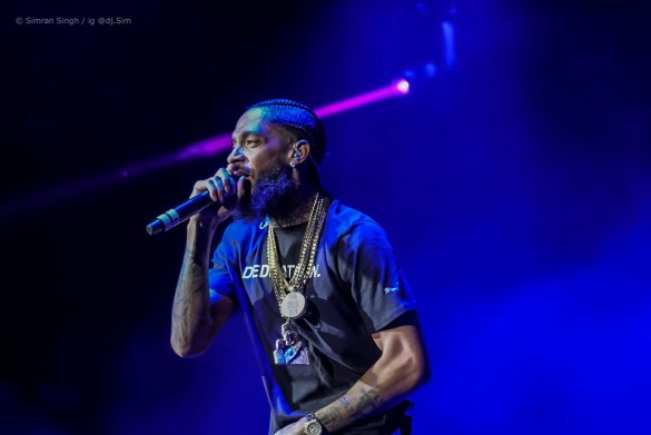 Nipsey Hussle @ Powerhouse 2018 @ The Glen Helen Amphitheater 5/12/18. Photo by Simran Singh (@dj.sim) for www.BlurredCulture.com.