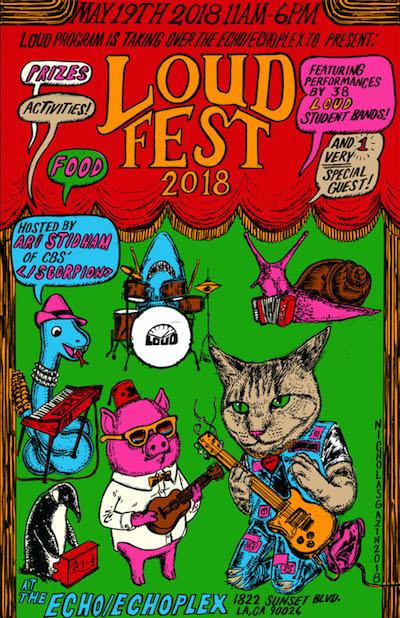 LOUD Fest 2018. Flier.