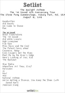 The Gaslight Anthem @ Stone Pony 8/18/18. Setlist.