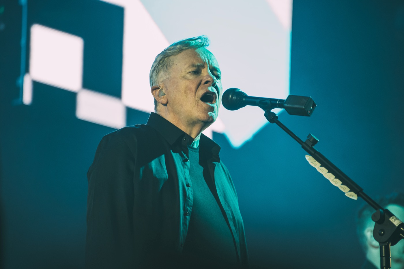 New Order @ Music Tastes Good 9/29/18. Photo by Lisa Mony for Music Tastes Good. Used with permission.