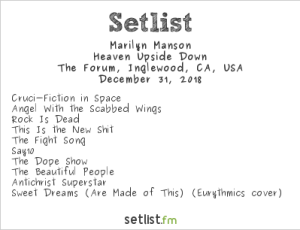 Marilyn Manson at OZZFEST 2018 @ The Forum 12/31/18. Setlist.