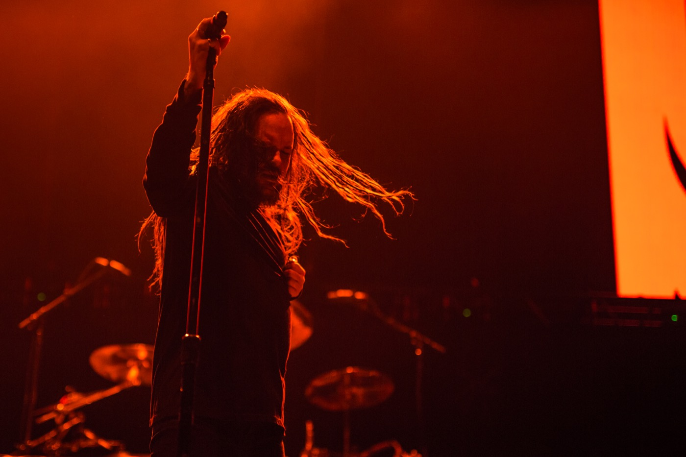 Jonathan Davis at OZZFEST 2018 @ The Forum 12/31/18. Photo by Derrick K. Lee, Esq. (@Methodman13) for www.BlurredCulture.com.