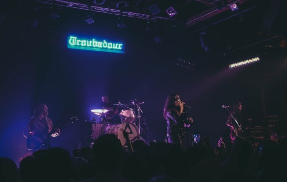 The Aces @ Troubadour 2/13/19. Photo by Rachel Ann Cauilan (@Rachelcansea) for www.BlurredCulture.com.