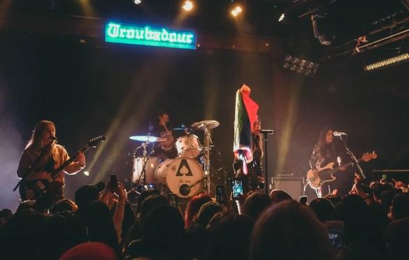 The Aces @ Troubadour 2/13/19. Photo by Rachel Ann Cauilan (@Rachelcansea) for www.BlurredCulture.com.