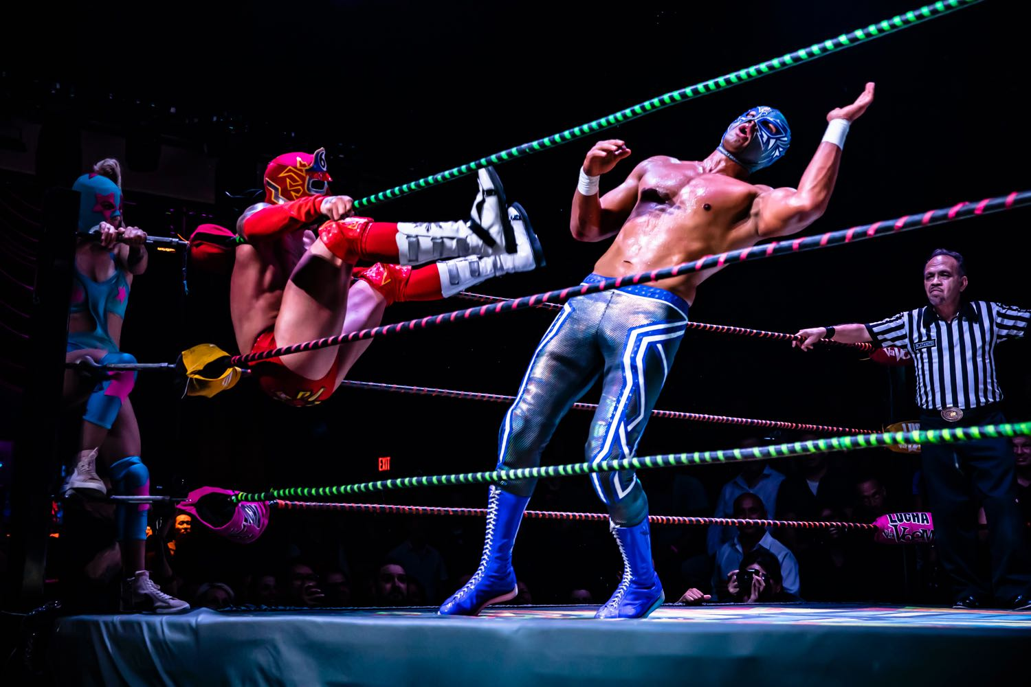 Lucha Vavoom @ The Mayan 8/8/19. Photo by Cortney Armitage (@CortneyArmitage) for www.BlurredCulture.com.