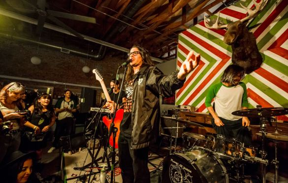 Ugly Sweaters for Bands In A Barbershop @ Echo Park Rising 8/16/19. Photo by Derrick K. Lee, Esq. (@Methodman13) for www.BlurredCulture.com.