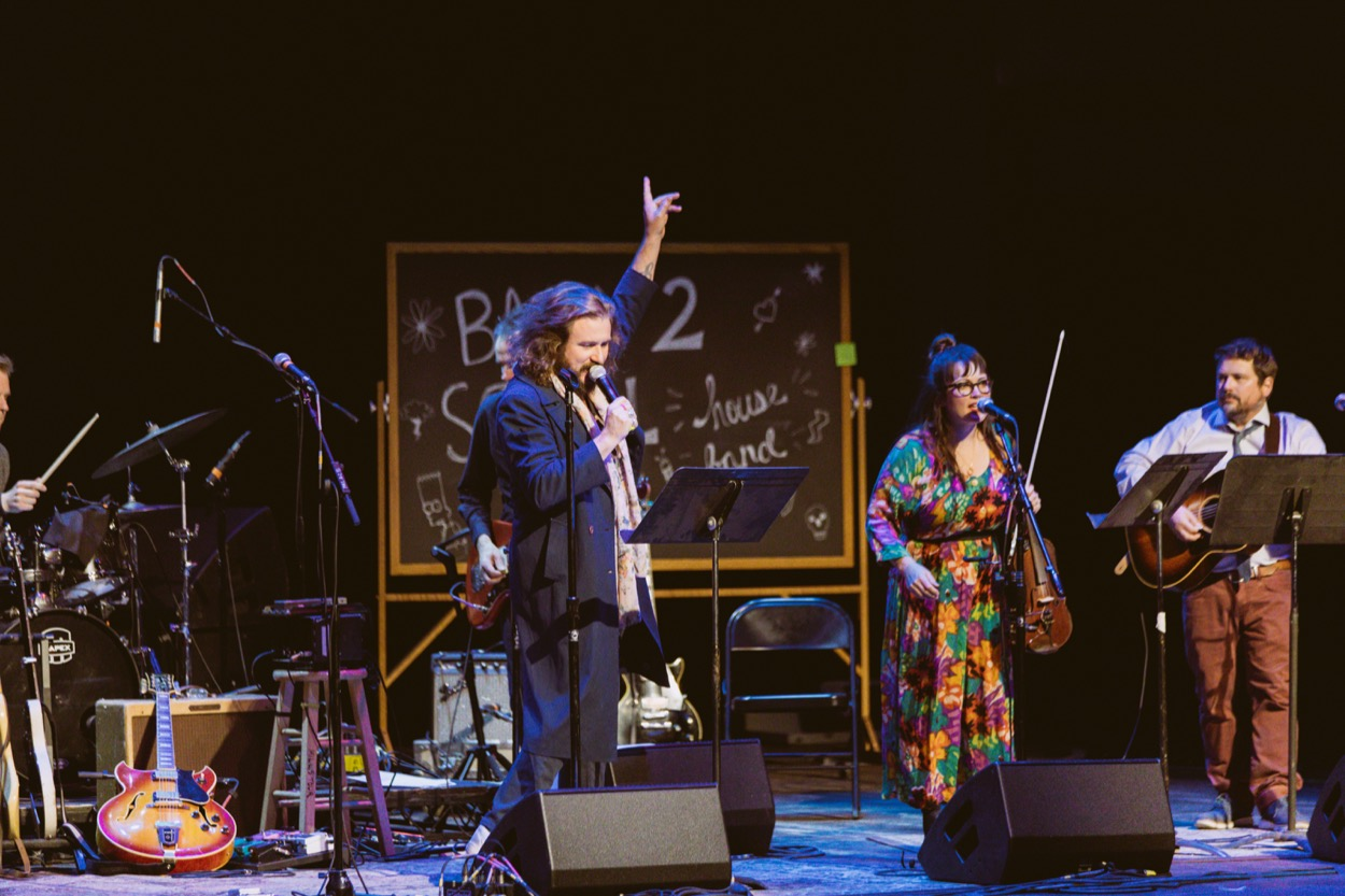 Back 2 School @ Palace Theater. Photo by Elli Lauren. Courtesy of The D'Addario Foundation. Used with permission.