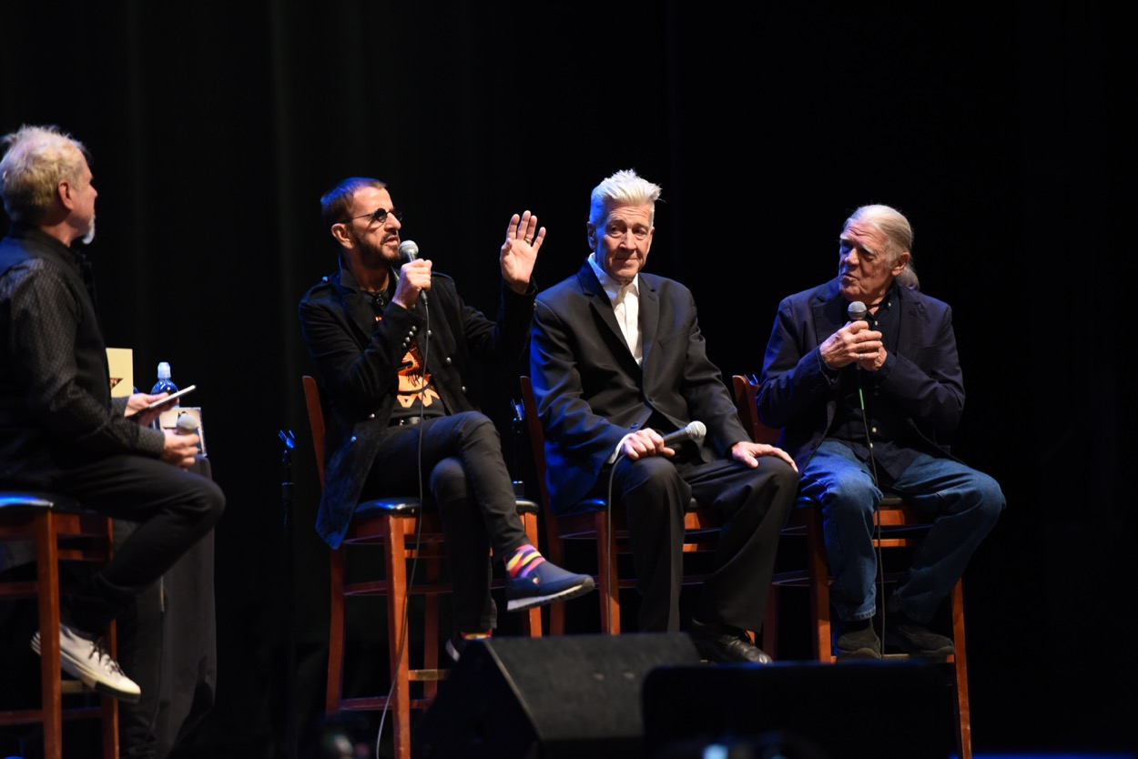 Ringo Starr in Conversation with David Lynch & Henry Diltz 10/29/19. Photo by Nikki Kreuzer (@Lunabeat) for www.BlurredCulture.com.