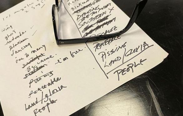 Setlist for 9/2/21. Pulled from Patti Smith's Instagram page @ThisIsPattiSmith.