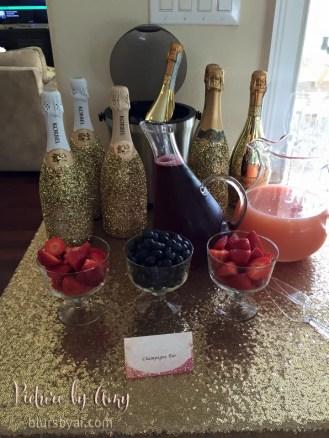 Bridal shower: champagne bar food label