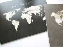 small world maps printed on forex