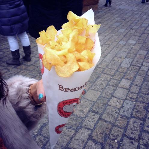 Fresh potato chips