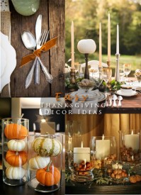 Easy Thanksgiving Decor Ideas  Blushing Black