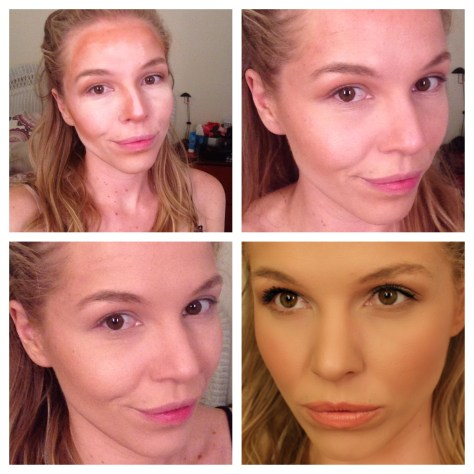 1. Morphe Cream Contour Palette mapped out 2. Contour blended in 3. Foundation blended on top 4. Full face