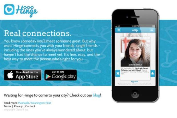 Description of the Hinge dating app
