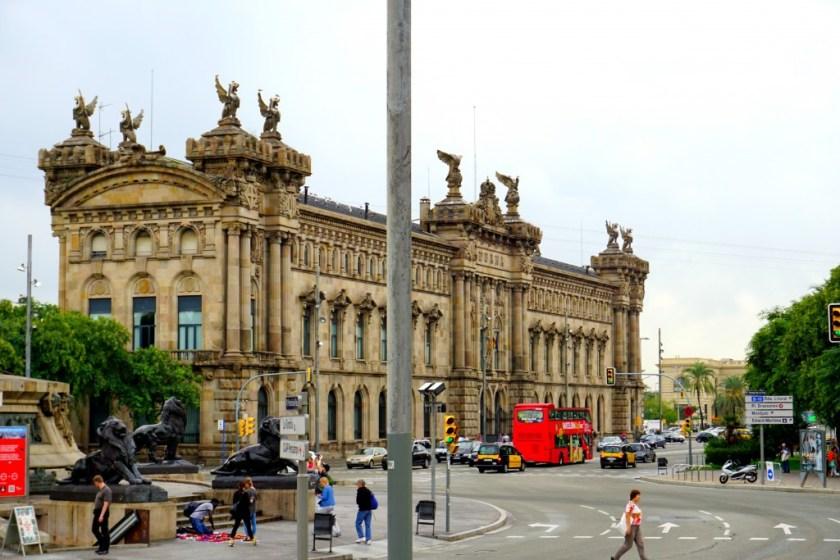 The Aduana Building in Barcelona Spain