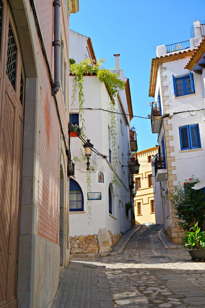 Alley way in Sitges Spain