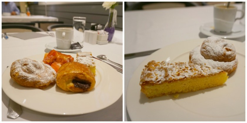 Pastries from the outstanding breakfast buffet at Iris Restaurant at Hotel Estela in Barcelona