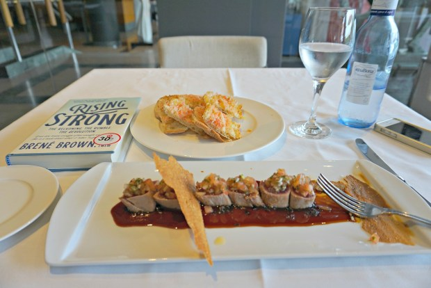 Lunch at Iris Restaurant at Estela Hotel in Sitges Spain