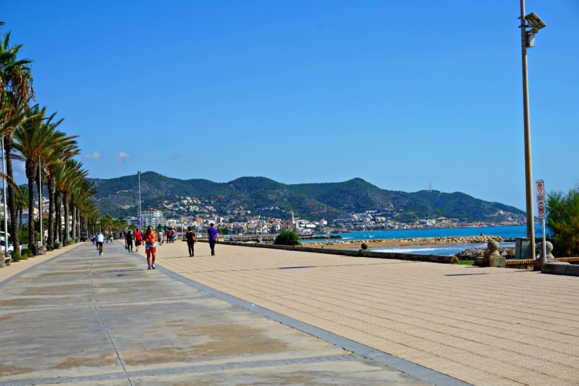 Runner on Passieg Maritim in Sitges Spain