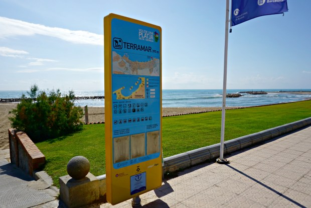 Terramar beach, Sitges, Spain