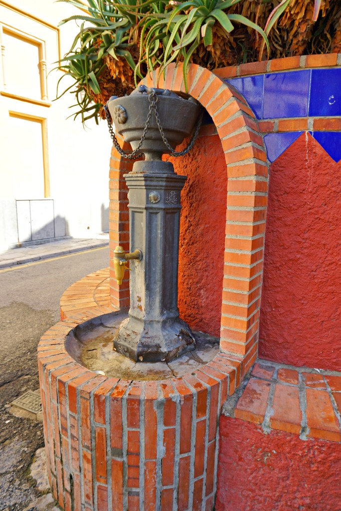 Water fountain in Sitges, Spain