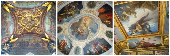 The ceilings at the Louvre in Paris