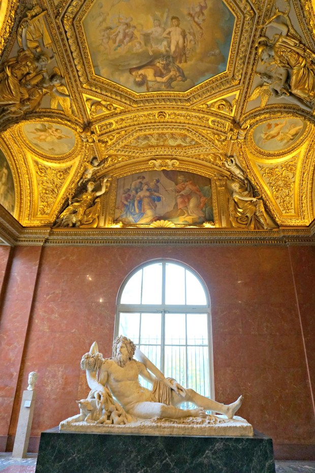 The Louvre in Paris is super GOLD!