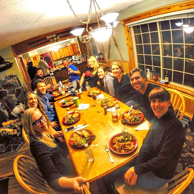 With a group this big a selfie stick is a must.