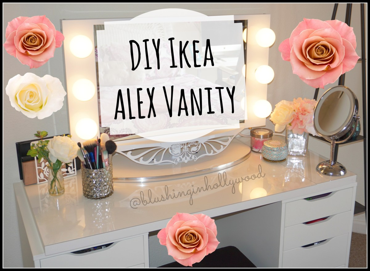 Diy Ikea Alex Vanity Blushing In Hollywood