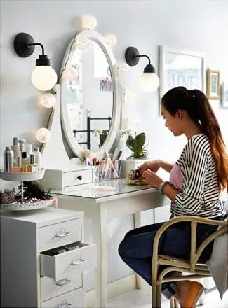 Ikea Hemnes Dressing Table as a vanity