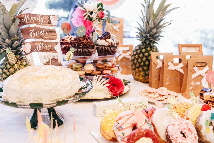 tropical-bridal-shower-dessert-table-close-up