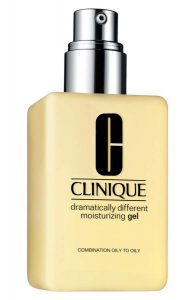 Clinique Dramatically Different Moisturizing Gel is a light moisturizer for day or night. It's great for oily skin.
