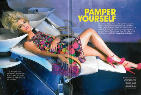 Tinsley Mortimer in Cosmopolitan Magazine in 2009