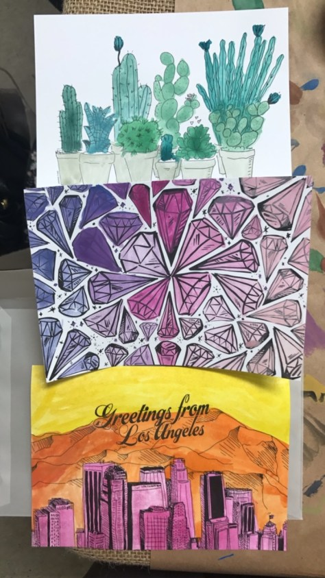 unique-la-water-color-post-cards