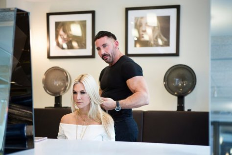 "Tinsley Mortimer has her color restored by Kyle White at the Oscar Blandi Salon in Midtown Manhattan. She is a new cast member of ""The Real Housewives of New York."" Credit Jessica Lehrman for The New York Times"