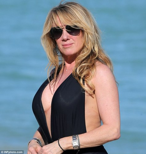 Ramona Singer looking gorgeous on the beach with her breast augmentation. It took a while before Ramona was able to open up and admit she had them done, but she loves them!