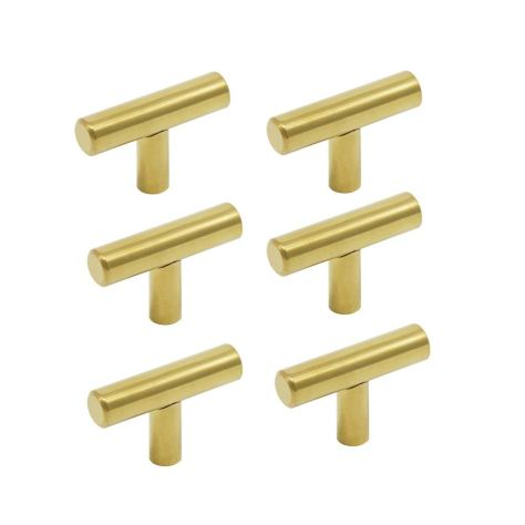 "Amazon Gold 2"" brass drawer pulls"