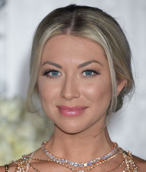 Stassi in a pink glossy lip