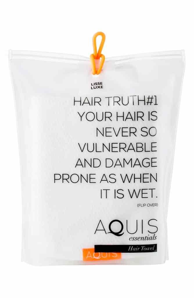 AQUIS Lisse Luxe Desert Rose Hair Towel
