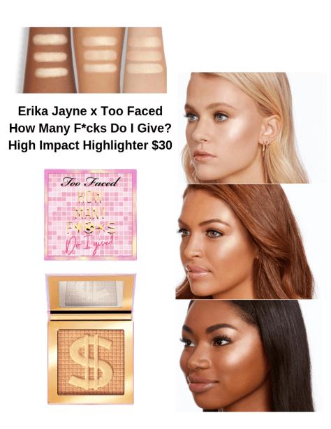 Erika Jayne x Too Faced How Many F*cks Do I Give Money Honey Highlighter Photos from TooFaced.com