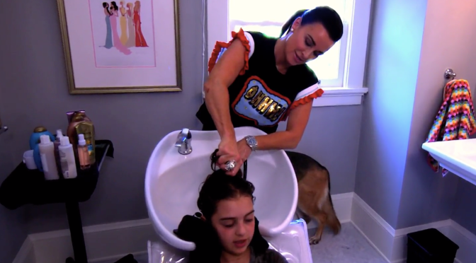 Kyle Richards has a Hair Salon in her house Plus Her Current Hair Care Products