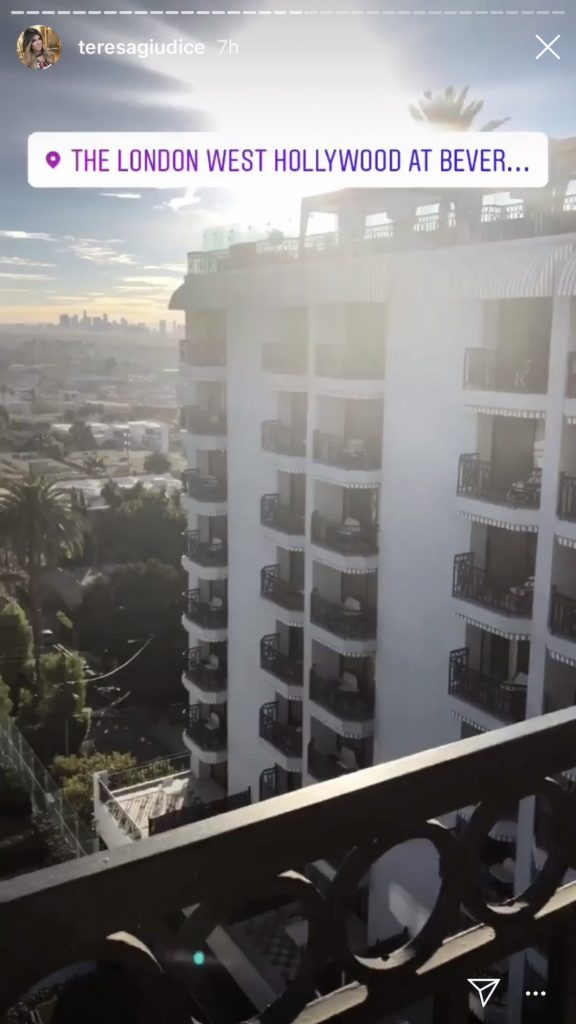 Teresa Giudice at The London West Hollywood at Beverly Hills