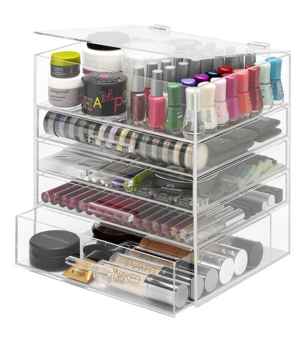 Whitmore 5 Drawer Acrylic Makeup Organizer